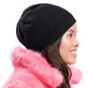 Classy Cashmere Tuqsat Satin Lined Beanie Tuque Toque For Women